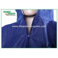 Quality Blue Breathable Disposable Tyvek Coveralls for Lab Room or Hospitals for sale
