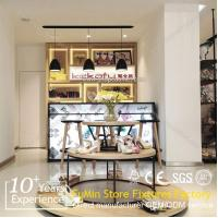 Quality Wooden display counter and showcase and cabinet for shoes and bags for sale