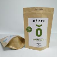 Quality Kraft Paper Material Stand Up Pouch Peanut Protein Powder Packaging Gravure Printing for sale