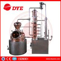 Quality 200L automatic  alcohol wine distiller copper equipment for vodka making for sale
