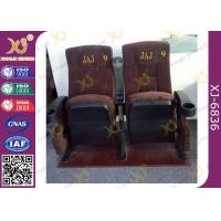 Quality Ergonomic Cinema Hall Auditorium Seating / Movie Theater Chairs With Soft Cushion for sale