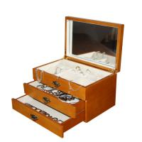 Quality Foldable Large Wooden Jewellry Boxes with drawers for  necklaces, earrings for sale