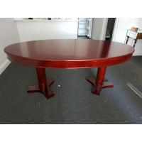 Quality Oval Plywood Commercial Restaurant Tables , Restaurant Supply Tables for sale