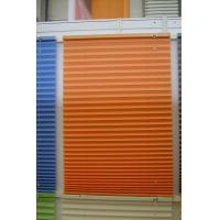 Buy cheap 100% polyester fabric pleated shades for windows with steel headrail and steel bottomrail from wholesalers