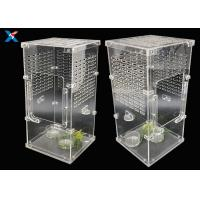 Quality Transparent Acrylic Modern Furniture Pet Breeding Box Plexiglass Reptile Cages for sale