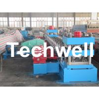 Quality 30KW, 3 Phase 50Hz 2 Wave Beam Roll Forming Machine With 10 - 12m/min Working Speed for sale