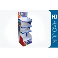 Quality Recyclable Printed Cardboard Display Stands For Snacks , Easy Assembly for sale