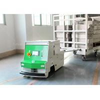 China Single Way Autonomous Mobile Robots , Warehouse Tugger AGV Magnetic Tape Guide on sale
