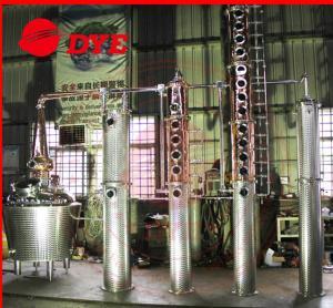 Quality Miniature Electric Rum / Brandy Copper Distillation Column With Gooseneck Cap for sale