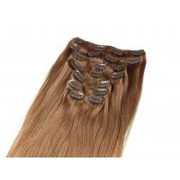Quality Pre-bonded Brazilian Tangle Free Clip In human Hair Extensions Straight 24 inch human Hair for sale