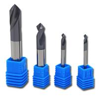 Quality Tungsten Carbide Chamfer End Mills Micro Cutting Tools For Center Drill Steel for sale