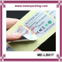 Buy cheap high quqlity and heat resistant plastic pipe stickers/waterproof vinyl adhesive custom label for electronic ME-LB017 from wholesalers