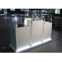 Quality Modern Wooden Glass Jewelry Show Display / Pedestal Display Case for sale