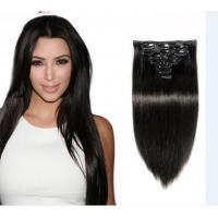 Quality Natural Black 100% European Silky Straight Human Hair 24 Inch Hair Extensions for sale