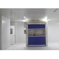 Quality PVC Fast Shutter Door 27m/s Speed Cargo Air Shower Tunnel With CE Certification for sale