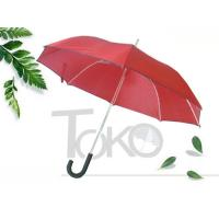 Quality Auto Open Walking Stick Umbrella 190T Polyester Fabric 12mm Aluminum Shaft for sale