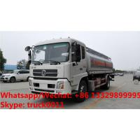 Buy cheap Factory sale bottom price dongfeng 18,000Liters oil tank delivery truck, HOT SALE!dongfeng 4*2 LHD fuel tank truck from wholesalers