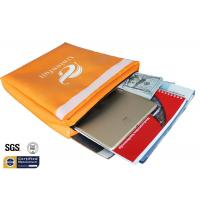 """Quality Non Itchy Fireproof Document Bag 1523 ℉ Envelope Pouch 11""""x15""""x2"""" Orange for sale"""