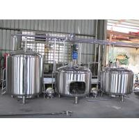Quality SUS304 Commercial Beer Brewing Equipment , Automatic Brewing System for sale