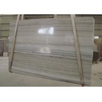 Quality White Wooden Vein Grey Marble Stone Countertops 2cm Thickness Big Slab for sale