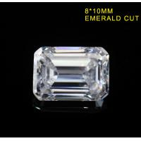 Buy cheap 3.55CT Emerald Cut Fancy Cut Loose Moissanite DEF Color Super White VVS1 10x8MM from wholesalers
