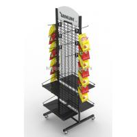 Quality Movable Flooring Display Stands , Metal Flooring Display Racks For Snack Food for sale