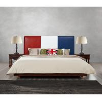 Buy Leather Upholstered Headboard Custom Bed in hotel Guestroom king and queen size at wholesale prices
