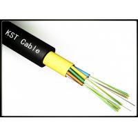 Buy 12 Core Underground Fiber Optic Cable Multimode With FRP Strength Member at wholesale prices