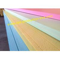 Quality Yellow / Blue / Green / Pink Styrofoam Insulation Sheets With Waterproof Package for sale