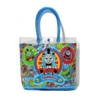 Buy cheap Clear Custom Girl PVC Vinyl Tote Handbag with Button Closure from wholesalers