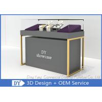 Buy cheap Wood Base Gray Lacquer Jewelry Store Display Case MOQ Is Only 5 Pcs from wholesalers