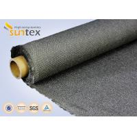 Quality Stainless Steel Wire Inserted Fiberglass Woven Fabric With Calcium Silicate Coating for sale