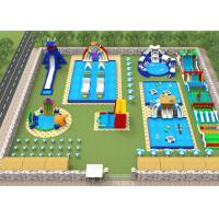 China Adults Giant Water Toys / Outdoor Inflatable Water Park With Slide Hand Painting on sale