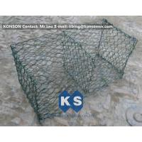 Quality Hexagonal Mesh PVC Gabions , Welded Coated Galvanized Gabion Baskets for sale