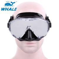 Quality Free Diving Adults womens dive mask Flexible Silicone Tempered Glass Lens for sale