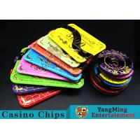 Quality Crystal Acrylic Casino Poker Chips With Mesh Bronzing Silk Screen for sale