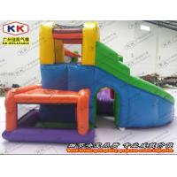 Quality Nontoxic Inflatable Bouncer , Inflatable Jumping Bed With Slide for sale