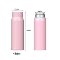 Quality BSCI Anti Slip 15 Ounce Stainless Steel Vacuum Flask for sale