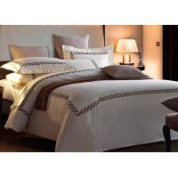 Quality Home / Hotel Modern Duvet Covers And Shams Embroidered 4 Pcs Patten Customized for sale