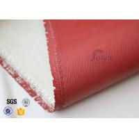 Quality 1200℃ Red Silicone Coated High Silica Fabric For Thermal Insulation Materials for sale