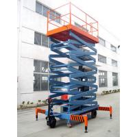 China Electrical Hydraulic Mobile Scissor Lift for Work Shop , Theatre , Hospital on sale