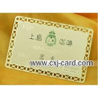 Buy cheap Metal Golden Card from wholesalers