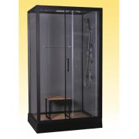 Buy cheap Luxury Massage Corner Shower Stalls , Rectangular Shower Cabin with bamboo seat from wholesalers