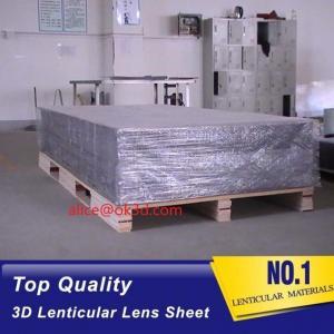 Quality 3D Lenticular sheet 40LPI board 120x240cm, 3.95mm lenticular sheet for 3d and flip lenticular effect by injekt print for sale