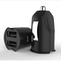 Quality FCC 2 Micro USB 5V2.4A Dual Port Car Charger for sale