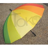 Quality Easy Open Rainbow Coloured Umbrella , Multi Coloured Golf Umbrella Metal Tips for sale