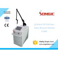 Quality White Vertical Q Switch Nd Yag Laser Tattoo Removal Machine 2000mj for sale