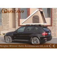 Quality Triangle Hard Shell Fiberglass Automatic Roof Top Tent , Roof Rack Pop Up Tent for sale