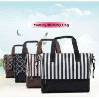 Quality Stripe / Dot Printing Zipper Breathable Baby Boy Diaper Bags For Pregnant Mother for sale