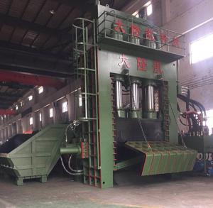 Quality PLC Operation Scrap Steel Baling Press With Manual Valve / Scrap Aluminum Baler for sale